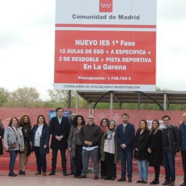 Comienzo de las obras con representantes de partidos, FAPA, DAT y de la Asociación de Vecinos