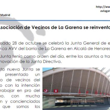 Imagen parcial del documento de resumen de la Asamblea de la AVV La Garena